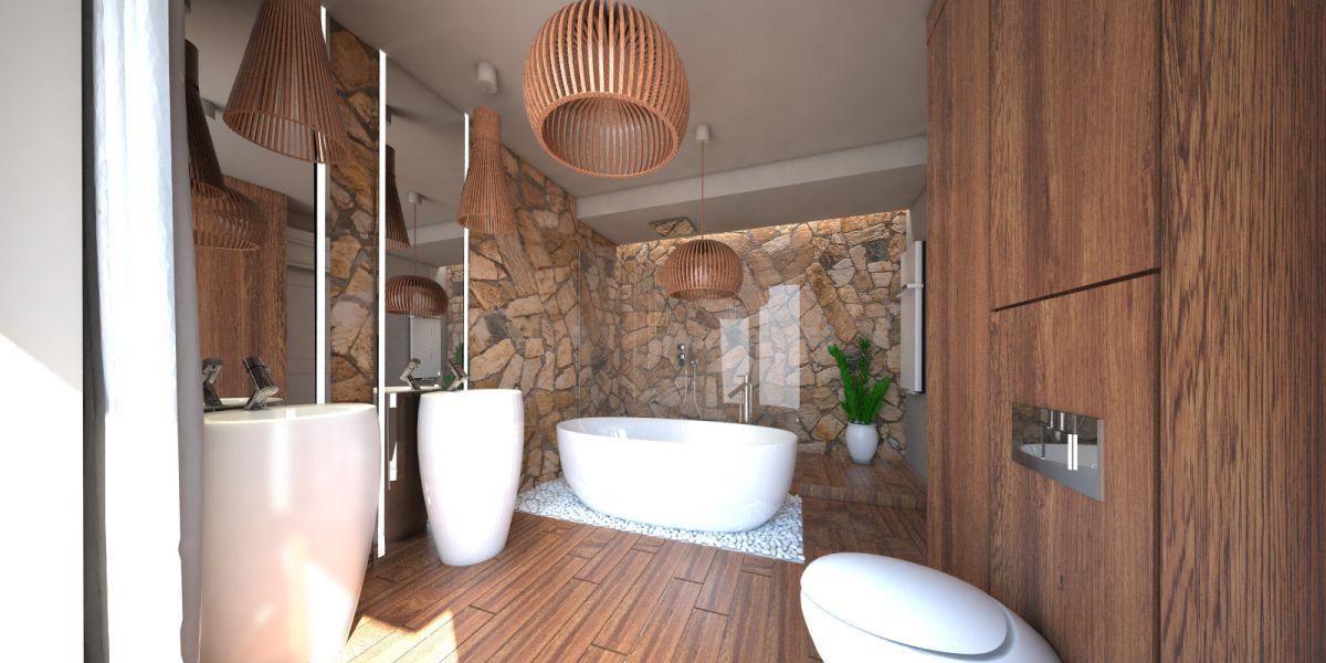 Wizualizacja  łazienki w stylu SPA