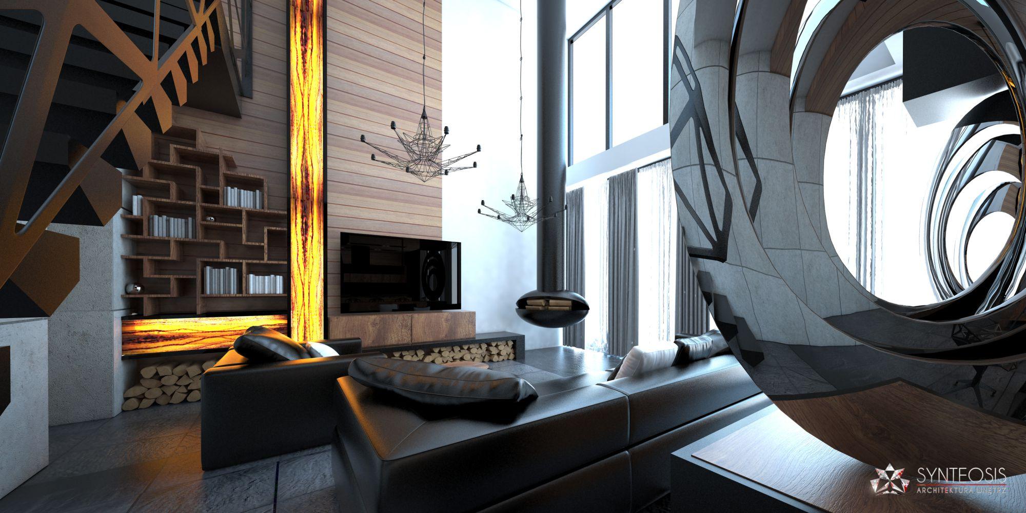 Aranżacja salonu w domu pod Szczecinem