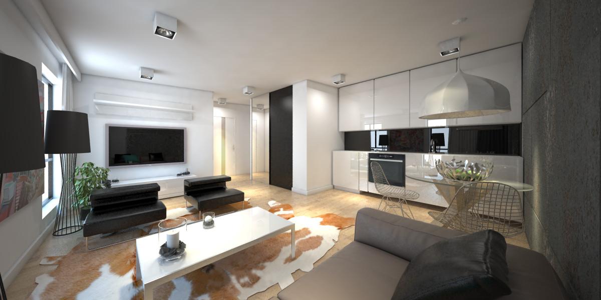 Aranżacja wnętrz apartamentu na wynajem