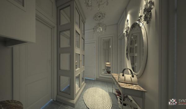 Aranżacja wnętrz apartamentu w stylu ludwikowskim