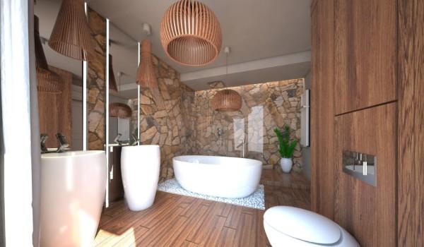 Wizualizacja fotorealistyczna łazienki w stylu SPA