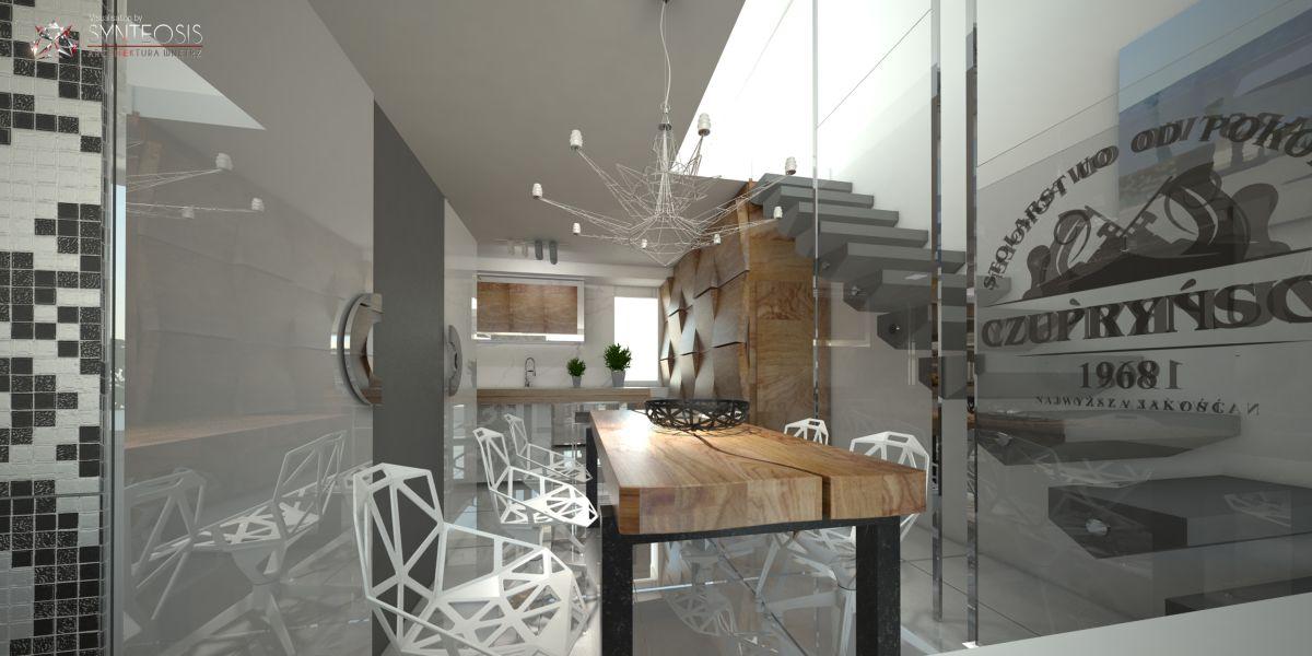 Wizualizacje Fotorealistyczne Salonu Kuchni Synteosis