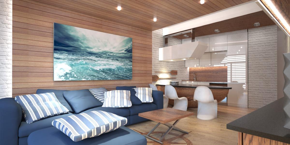 Projekt wnętrza apartamentu w Kanstancin-Jeziorna